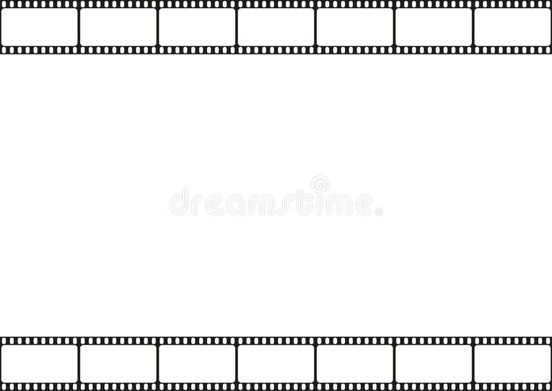 Ekranowego paska bezszwowy wzór, kino rama, ekranowa paska szablonu granica, wektor ilustracji