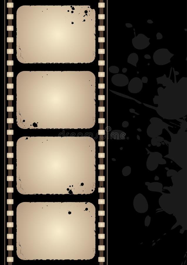 ekranowej ramy grunge ilustracja wektor