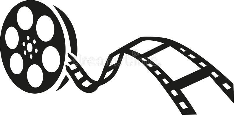 Ekranowej rolki film ilustracja wektor