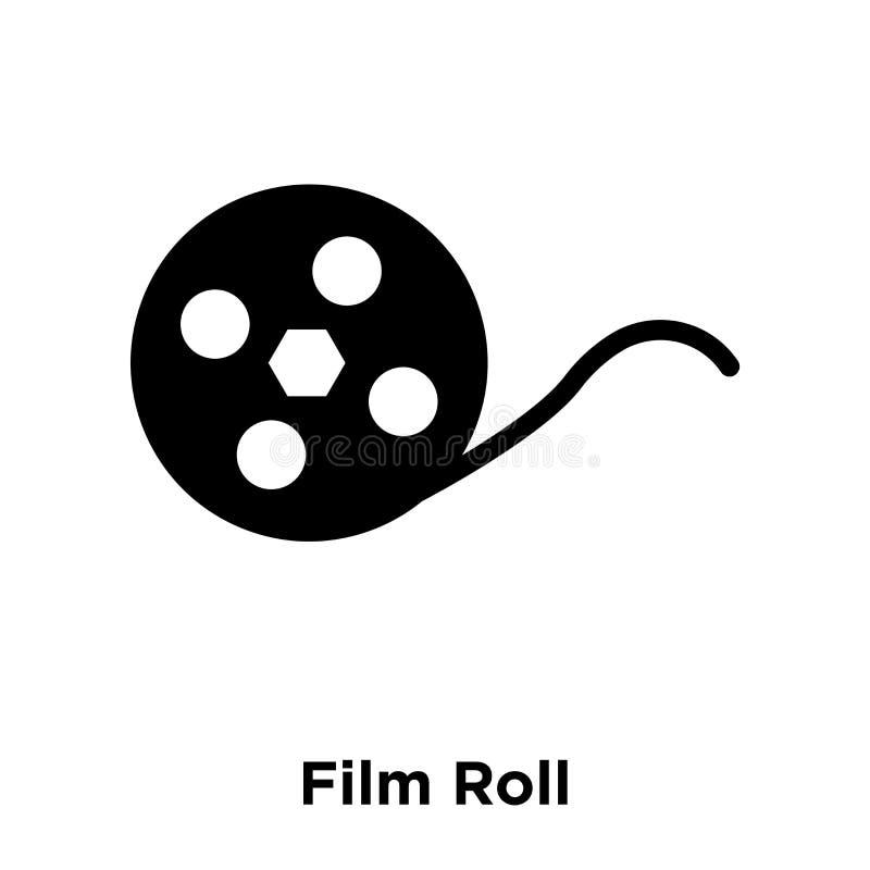 Ekranowej rolki ikony wektor odizolowywający na białym tle, loga pojęcie ilustracja wektor