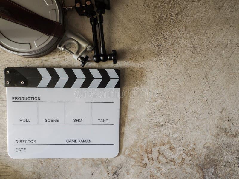 Ekranowy łupkowy filmu narzędzie zdjęcie stock