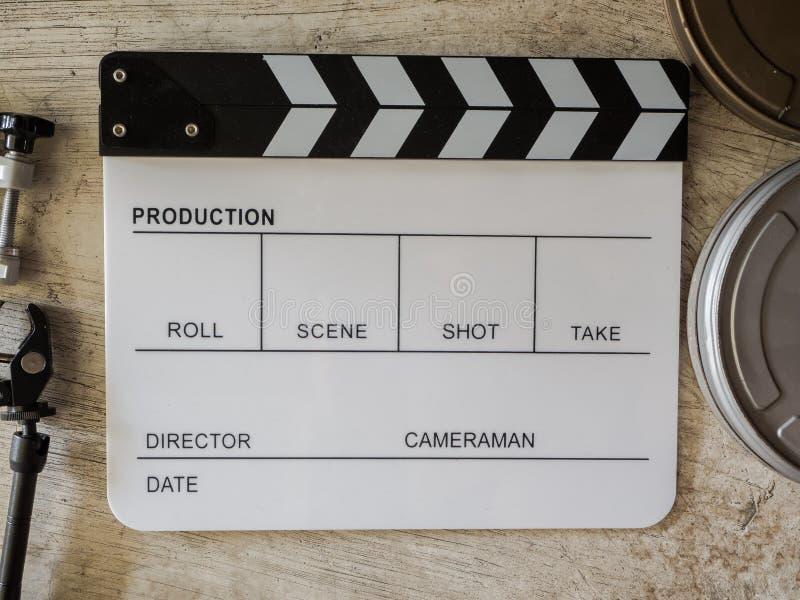 Ekranowy łupkowy filmu narzędzie obraz stock