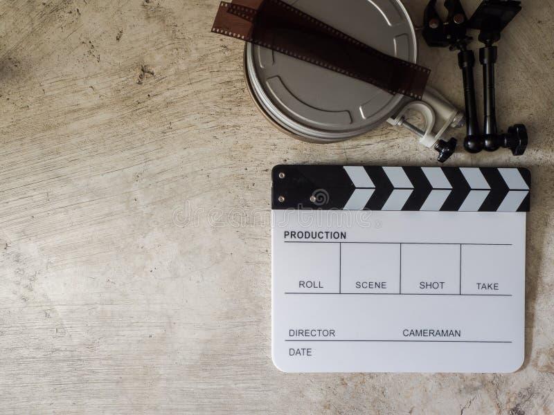 Ekranowy łupkowy filmu narzędzie fotografia stock