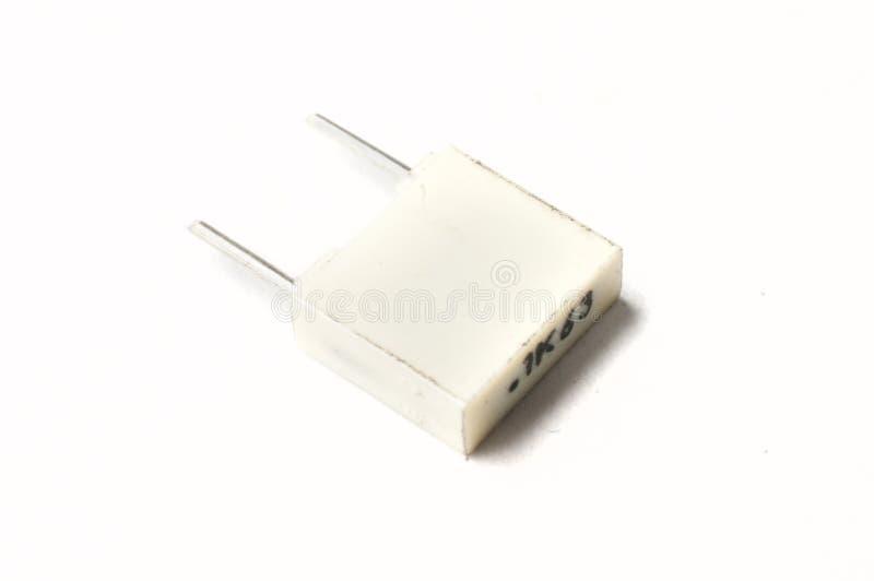 Ekranowy capacitor na białym tle zdjęcia royalty free