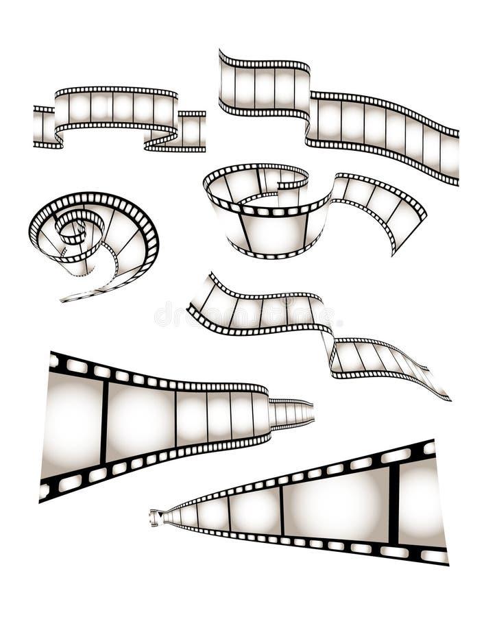 ekranowy filmu fotografii wektor ilustracja wektor