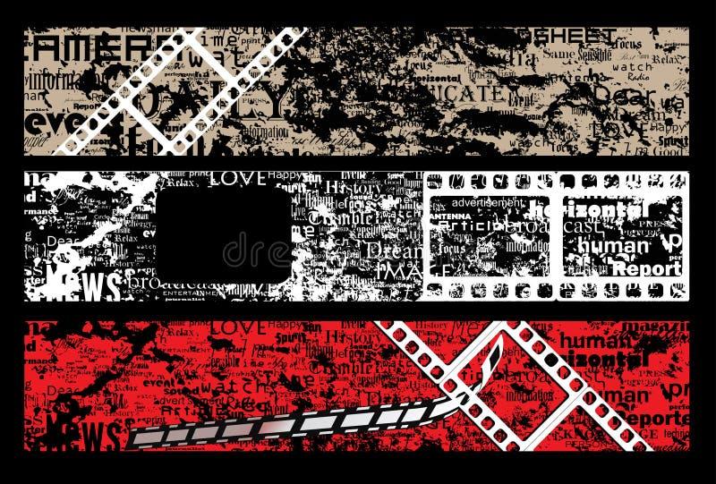 ekranowy grunge listów pasek ilustracja wektor