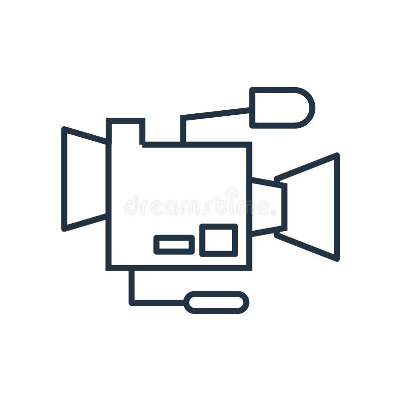 Ekranowy kamery ikony wektor odizolowywający na białym tle, Ekranowy kamera znak ilustracja wektor