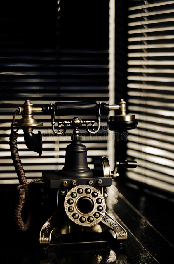 Ekranowy Noir Rocznika Telefon zdjęcia royalty free