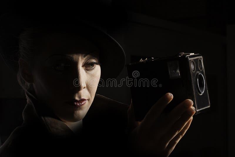Ekranowy Noir stylowy portret obraz royalty free