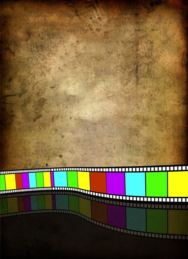 Ekranowy pasek na rocznika tle ilustracji