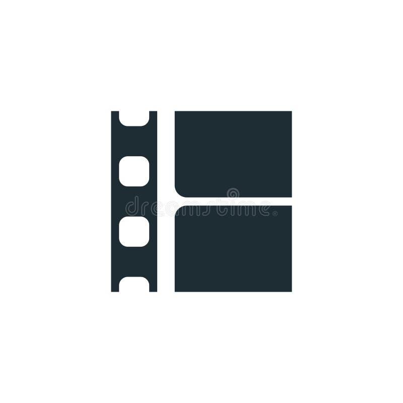 Ekranowy pasek, prosty konceptualny logo ilustracja wektor