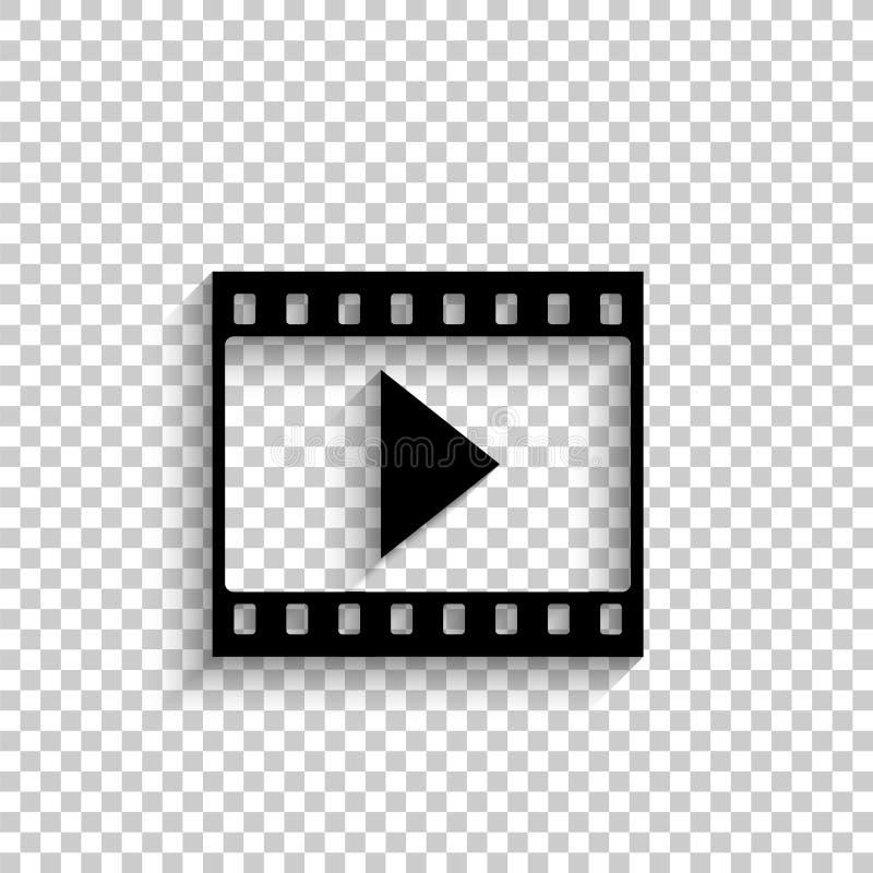 Ekranowy pasek z sztuką - czarna wektorowa ikona ilustracja wektor