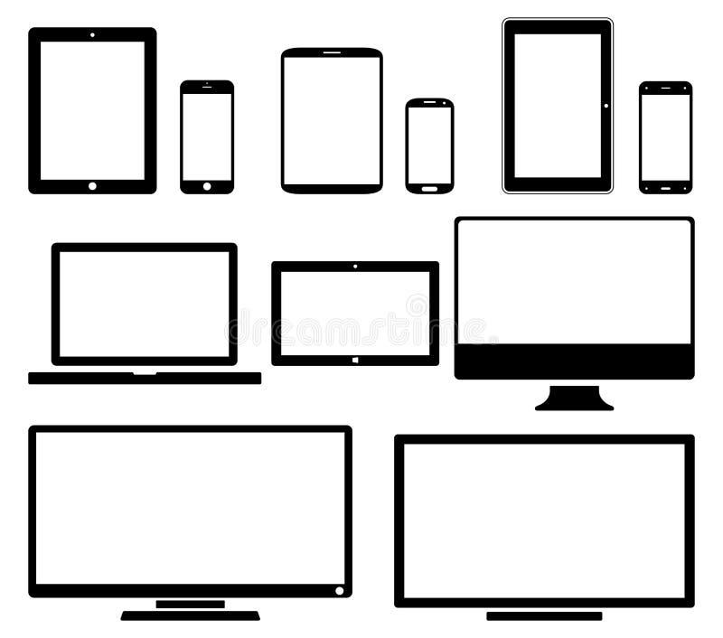 Ekrany - ikona set ilustracja wektor