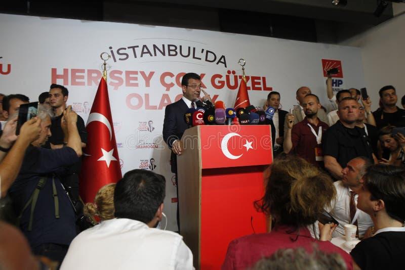 Ekrem Imamoglu gana la elección de la alcaldía de Estambul por la segunda vez imagen de archivo