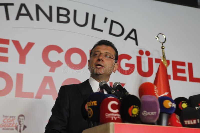 Ekrem Imamoglu gana la elección de la alcaldía de Estambul por la segunda vez fotografía de archivo