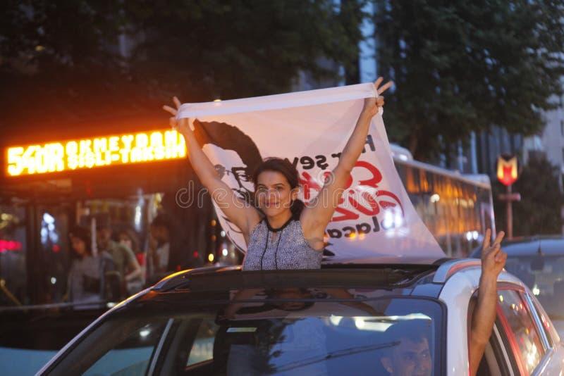 Ekrem Imamoglu gana la elección de la alcaldía de Estambul por la segunda vez fotos de archivo libres de regalías