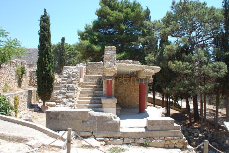 Ekskawacje antyczny miasto Heraklion, Crete zdjęcia stock