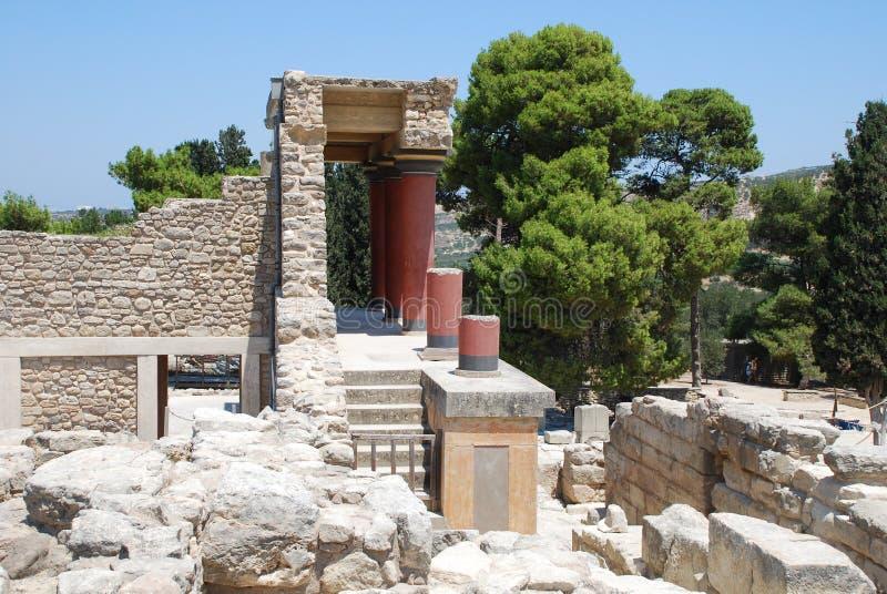 Ekskawacje antyczny miasto Heraklion, Crete obraz royalty free