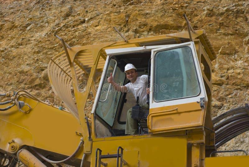 ekskawatoru żółty zdjęcie stock