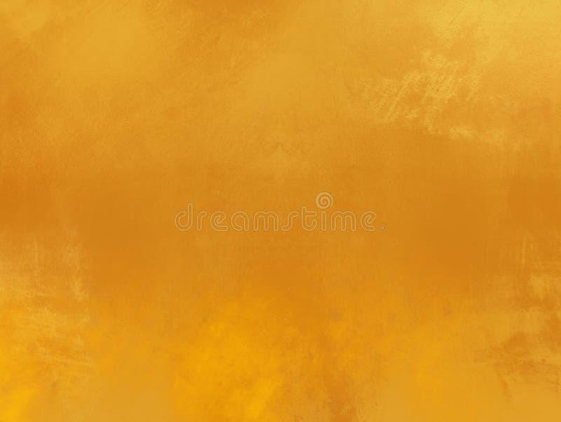 Ekskluzywna brązowa żółta złota zakłopotana malująca tło powierzchnia obrazy royalty free