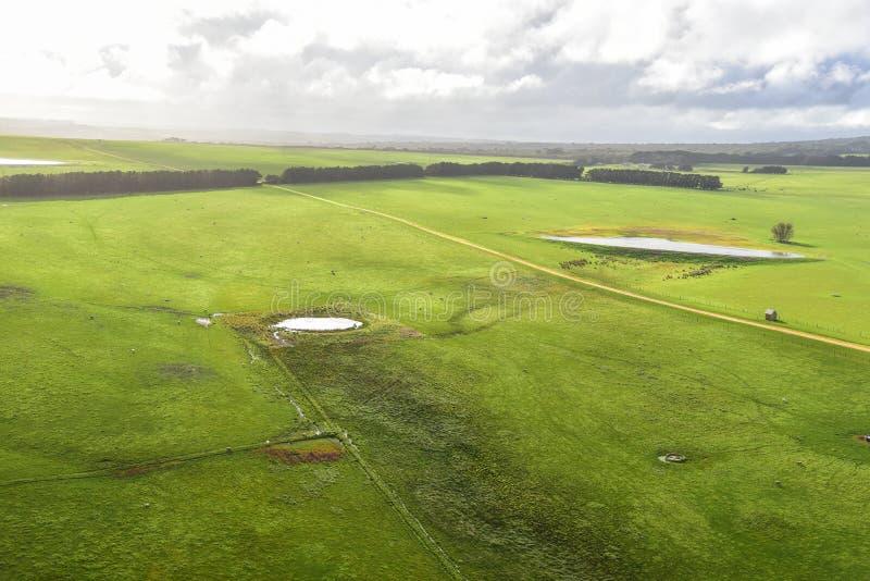 Ekspansywny krajobraz w Australia wsi zdjęcia royalty free