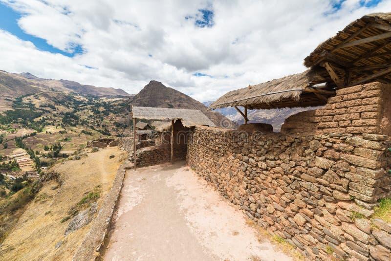 Ekspansywny widok Święta dolina, Peru od Pisac zdjęcia royalty free
