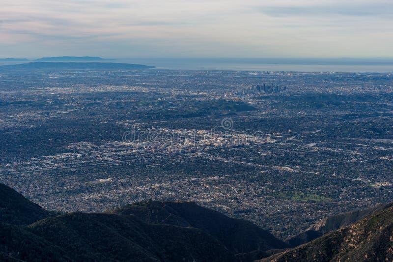 Ekspansywny widok w centrum Los Angeles i kalifornie południowe obrazy stock