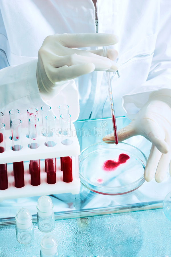 eksperyment biologicznego zdjęcia stock