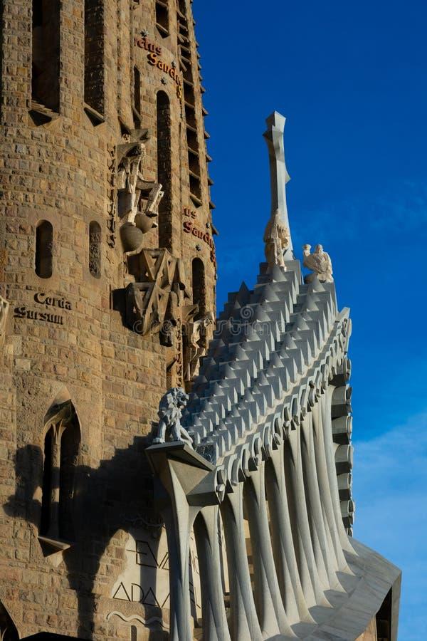 Ekspiacyjny kościół Święty rodziny Templo Expiatorio de los angeles Sagrada Familia obraz stock