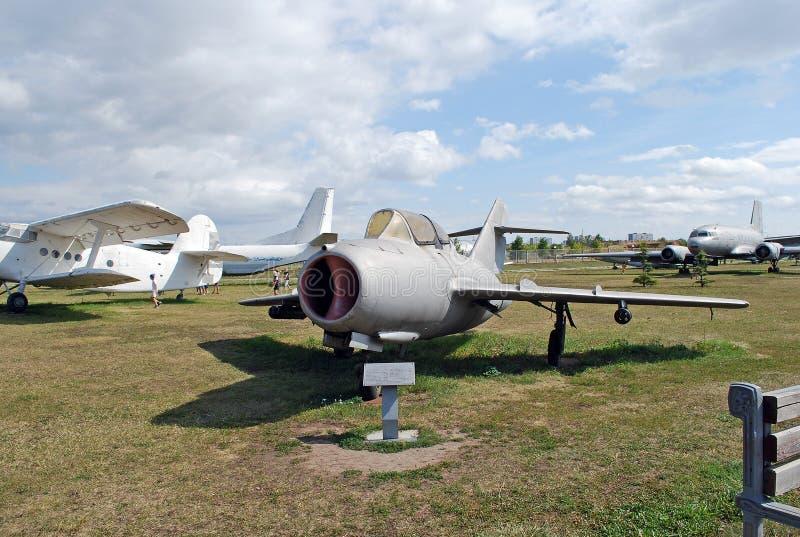 Eksponat muzeum Radziecki strumienia MIG-15 wojownik obraz royalty free