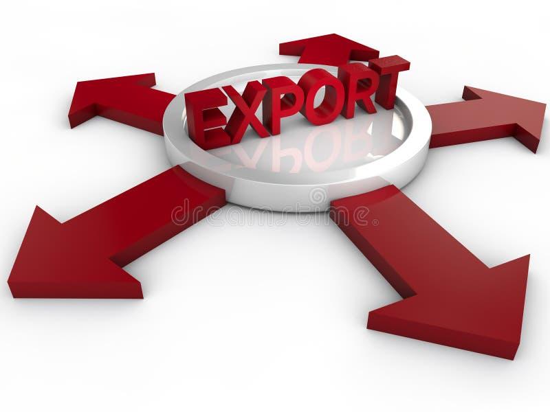 eksport ilustracja wektor