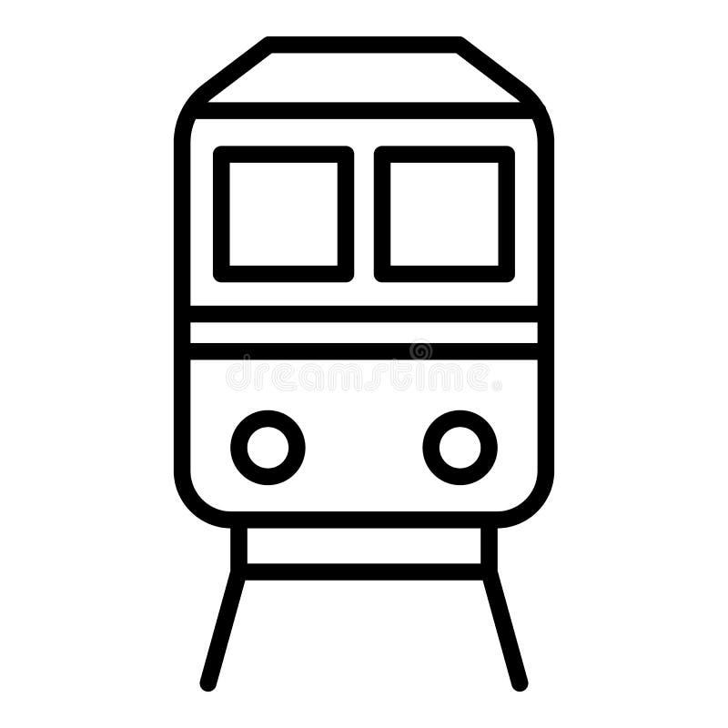 Eksport taborową ikoną, konturu styl ilustracja wektor