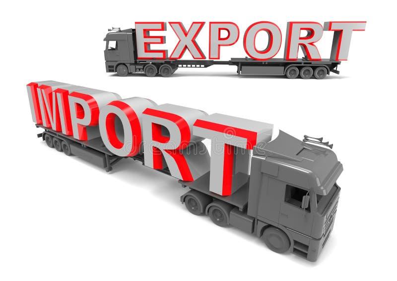 Eksportowy importowego handlu pojęcie royalty ilustracja