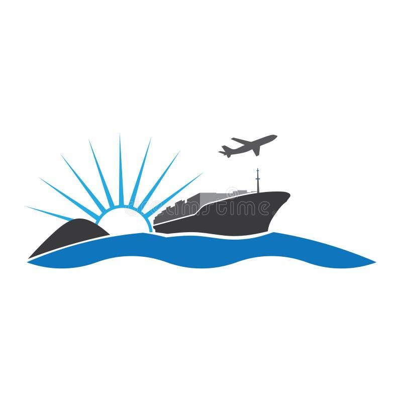 eksportowy logo ilustracja wektor