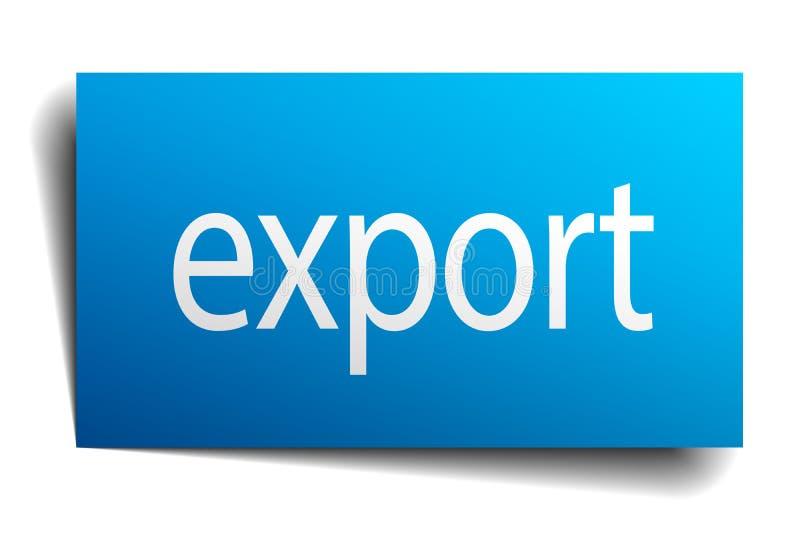 eksportowy znak ilustracja wektor