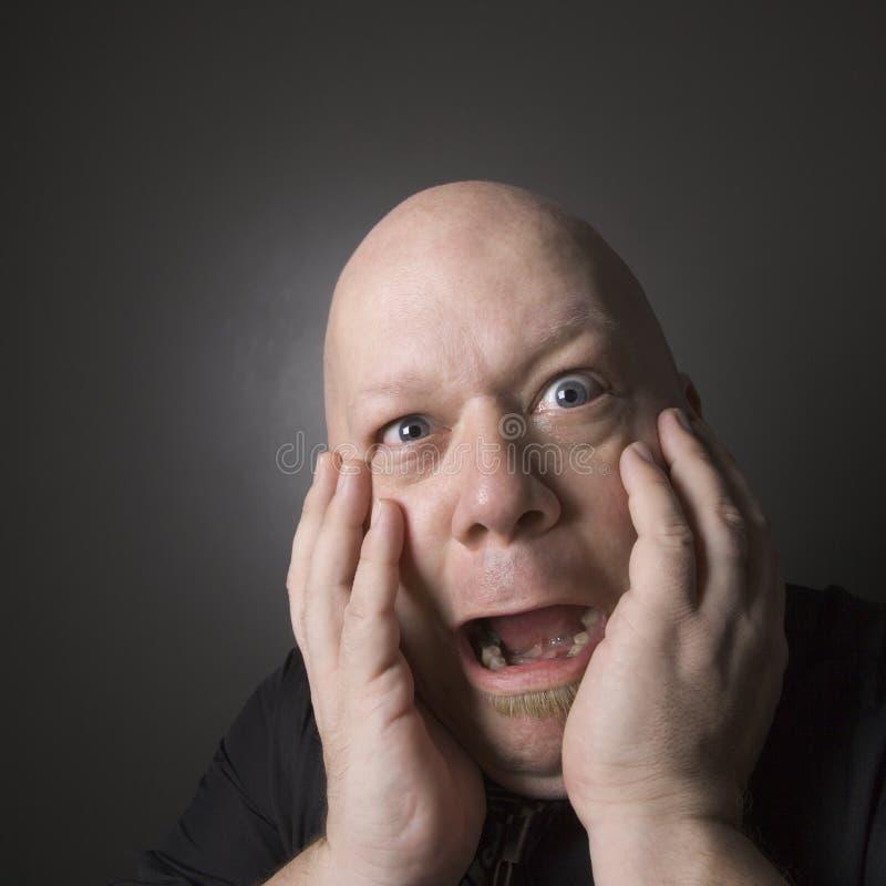ekspresji twarzy czyni człowieka zdjęcie royalty free