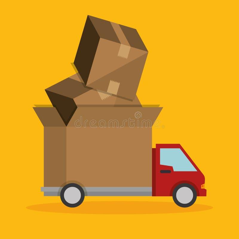 ekspresowa ciężarowa dostawa transportu ikona ilustracji