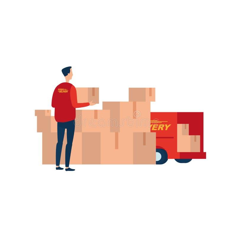 Ekspresowa dostawa ilustracja wektor