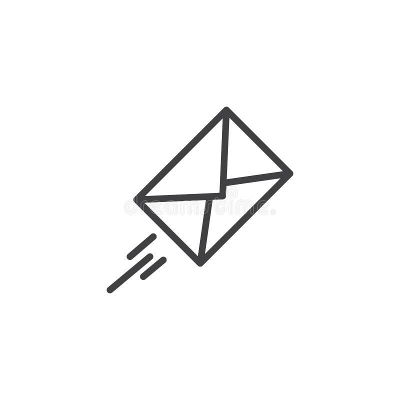 Ekspresowej poczta konturu ikona ilustracja wektor