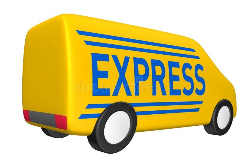 ekspresowy dostawa samochód dostawczy ilustracji