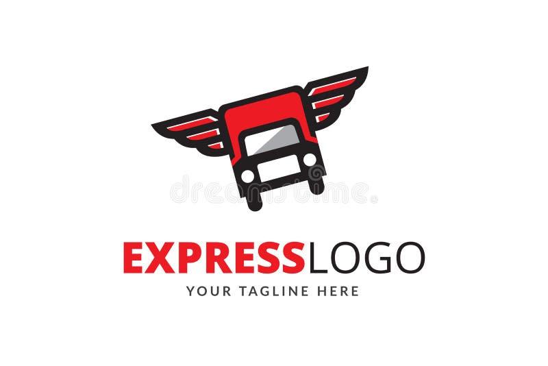 Ekspresowy loga projekta szablonu wektor zdjęcie royalty free