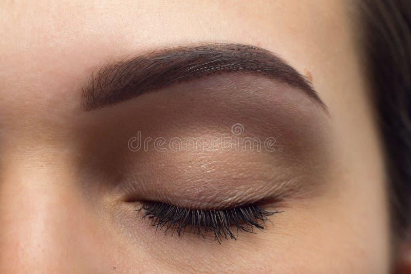 Ekspresyjnego znaczącego oka perfect kształt brew zdjęcia royalty free