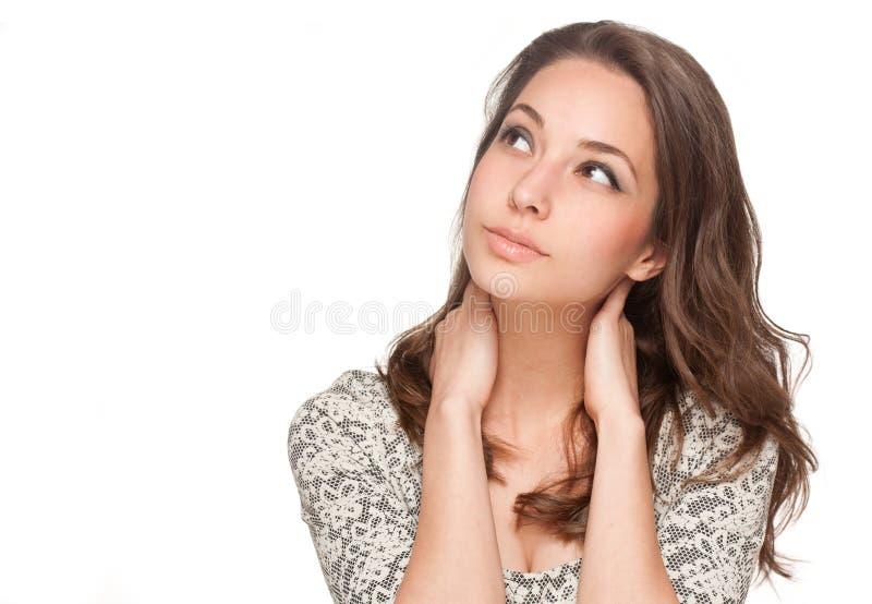 Ekspresyjny brunetki piękno obrazy stock