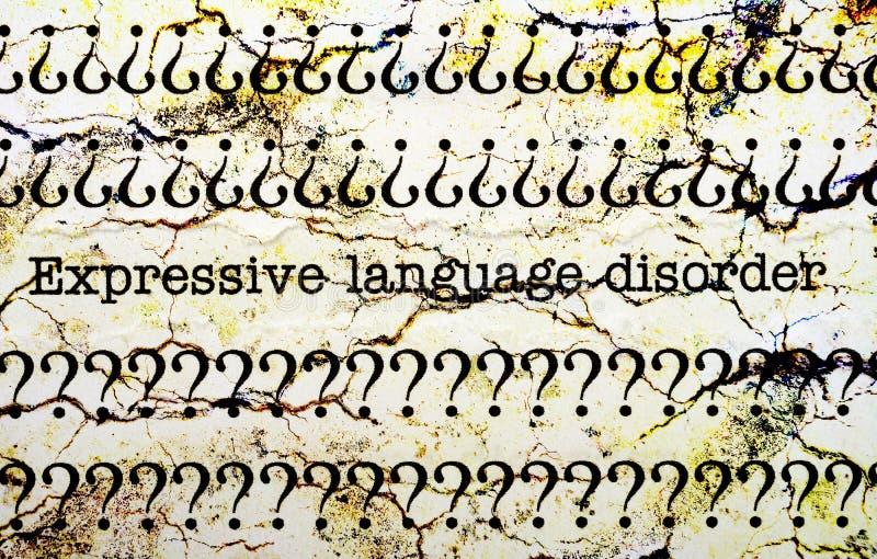 Ekspresyjny językowy nieład obrazy stock