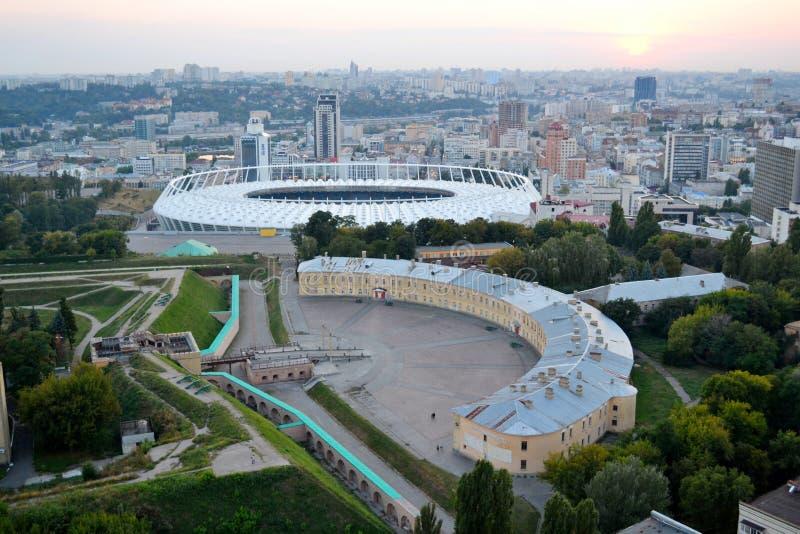 Eksterer olímpico de la opinión de plan de NSC Fortaleza de Pecherskaya fotografía de archivo libre de regalías