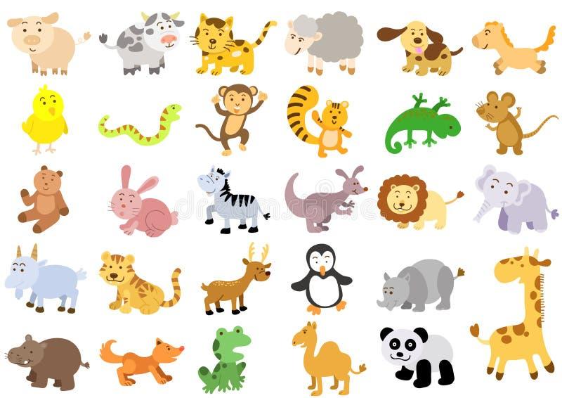 Ekstra ampuła ustawiająca zwierzęta ilustracji