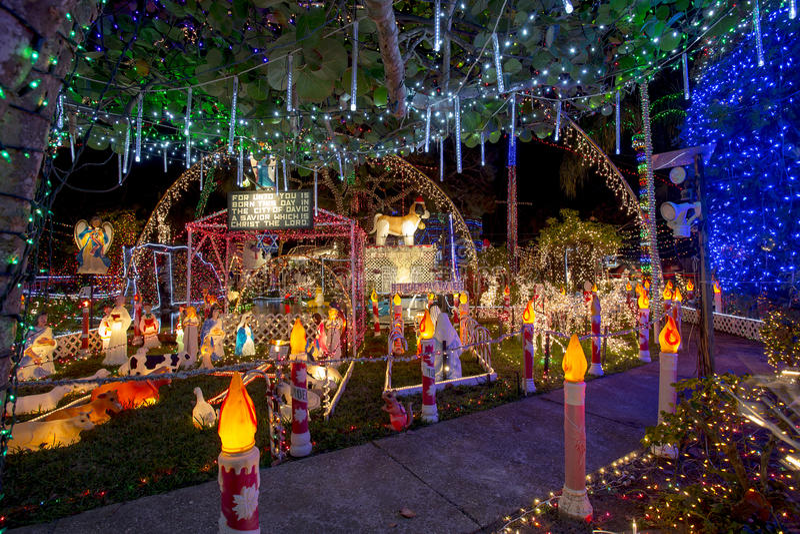Ekstrawaganccy bożonarodzeniowe światła zdjęcie stock