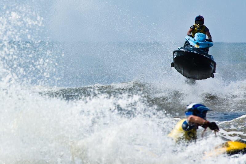 ekstremów narciarskie jet watersports fotografia royalty free