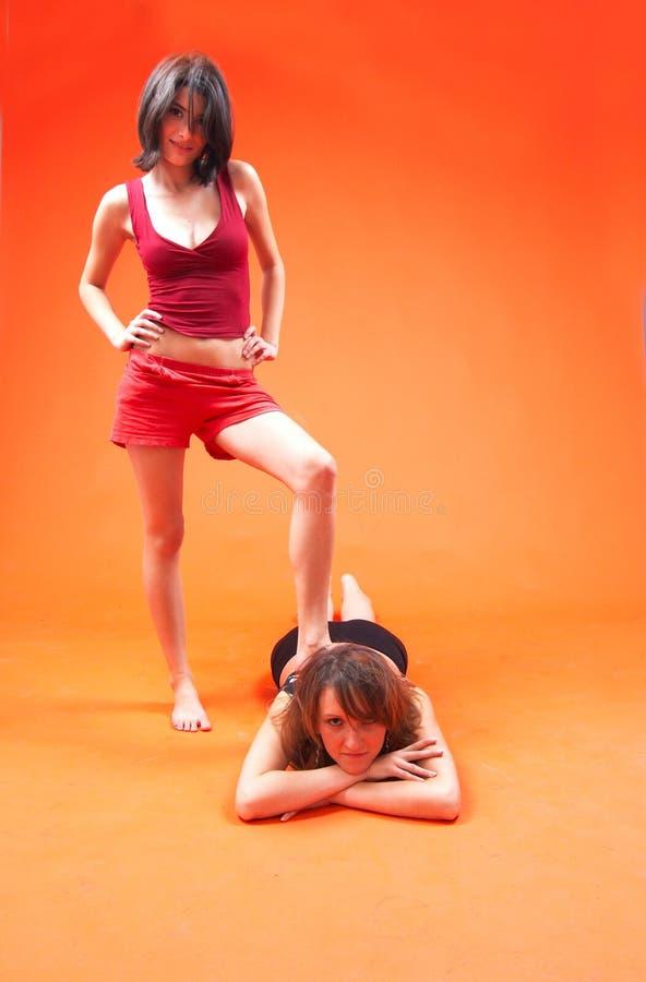 ekstremalne 2 masaż. zdjęcia stock