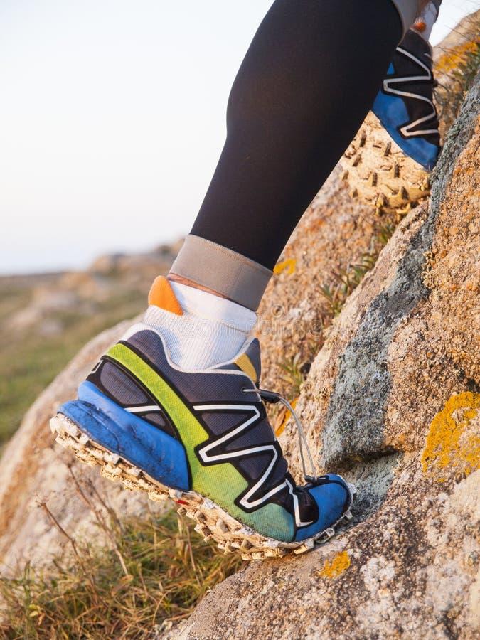 Ekstremum sportów buty dla ślad działającej praktyki zdjęcia royalty free